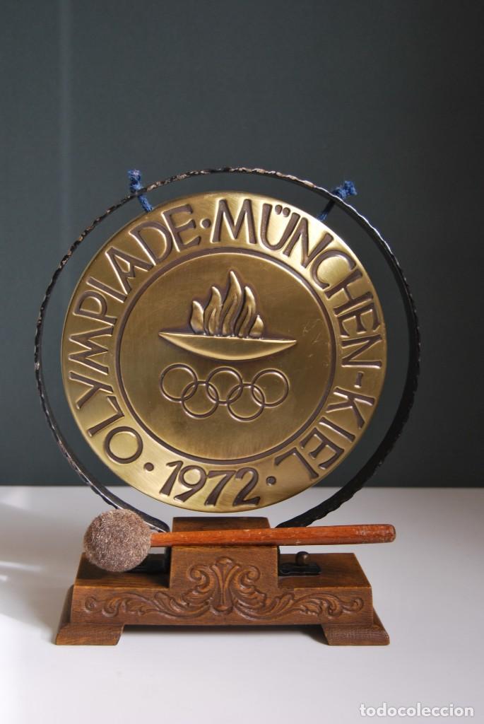 CURIOSO GONG DE LAS OLIMPIADAS DE MUNICH 1972 - OLYMPIADE MUNCHEN-KIEL (Música - Instrumentos Musicales - Percusión)