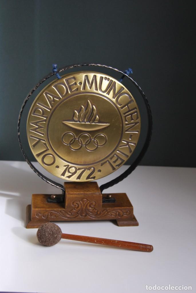 Instrumentos musicales: CURIOSO GONG DE LAS OLIMPIADAS DE MUNICH 1972 - OLYMPIADE MUNCHEN-KIEL - Foto 5 - 159496570