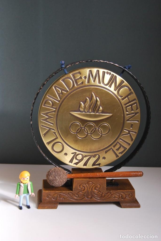 Instrumentos musicales: CURIOSO GONG DE LAS OLIMPIADAS DE MUNICH 1972 - OLYMPIADE MUNCHEN-KIEL - Foto 7 - 159496570