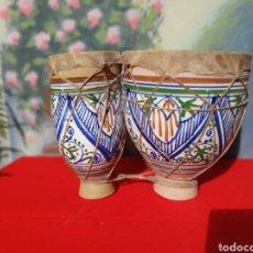 Instrumentos musicales: TAMBOR, BONGOS DE BARRO ESMALTADO. Lote 160324512