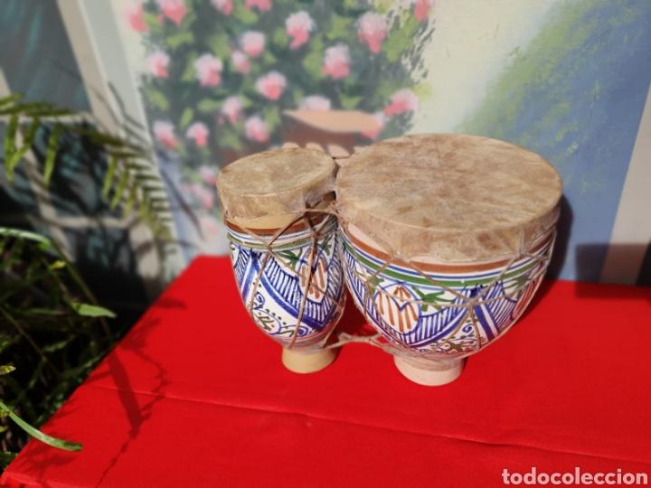 Instrumentos musicales: Tambor, bongos de barro esmaltado - Foto 4 - 202793215