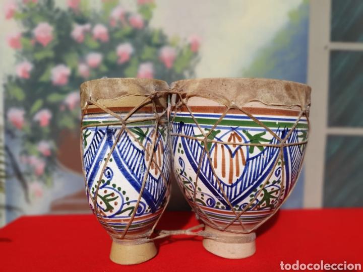 Instrumentos musicales: Tambor, bongos de barro esmaltado - Foto 6 - 202793215
