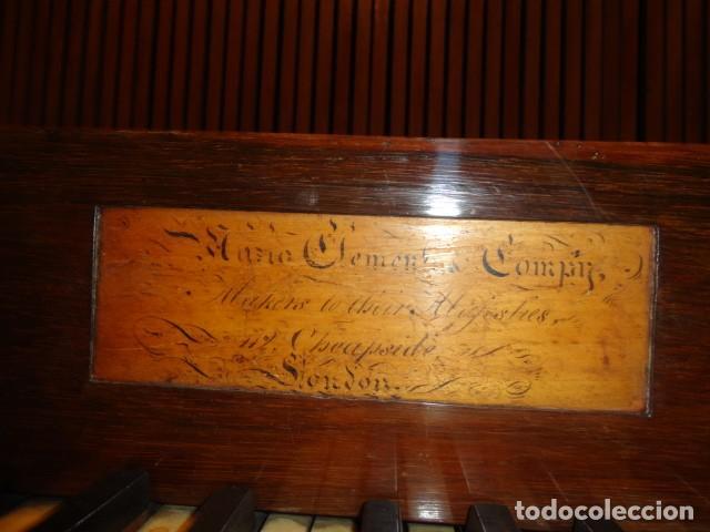 Instrumentos musicales: Piano historico de Muzio Clementi London 1820 - Foto 11 - 161357734