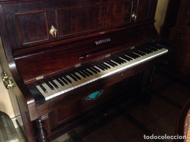 PIANO VERTICAL MONTANO (Música - Instrumentos Musicales - Pianos Antiguos)