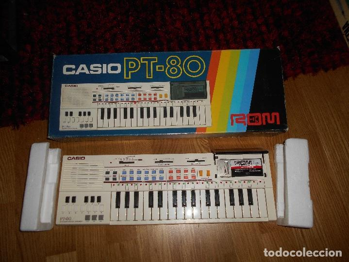 TECLADO CASIO PT-80 ROM+CAJA ORIGINAL CON CAJA ORIGINAL FUNCIONANDO (Música - Instrumentos Musicales - Teclados Eléctricos y Digitales)