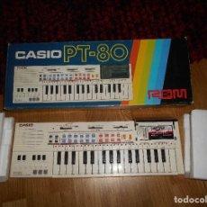 Instrumentos musicales: TECLADO CASIO PT-80 ROM+CAJA ORIGINAL CON CAJA ORIGINAL FUNCIONANDO. Lote 161680610