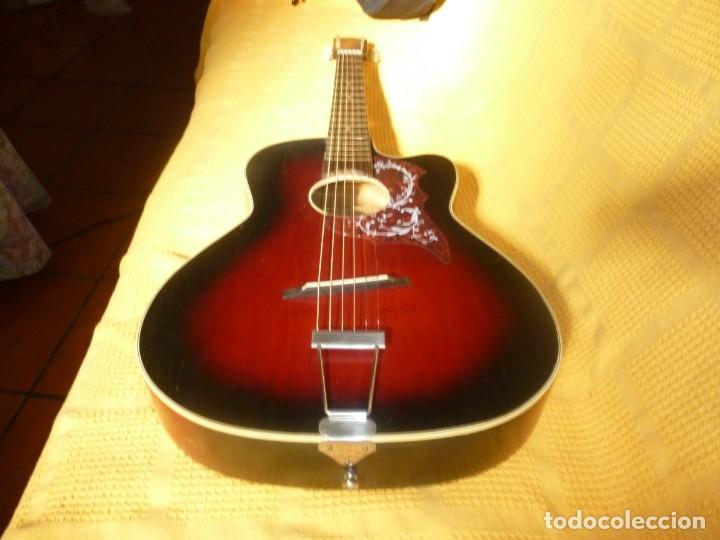 Instrumentos musicales: Antigua Guitarra jazz Hornsteiner - Foto 9 - 161748934