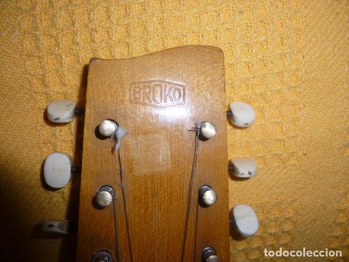 Instrumentos musicales: Antigua guitarra octava Bruko - Foto 3 - 161809758