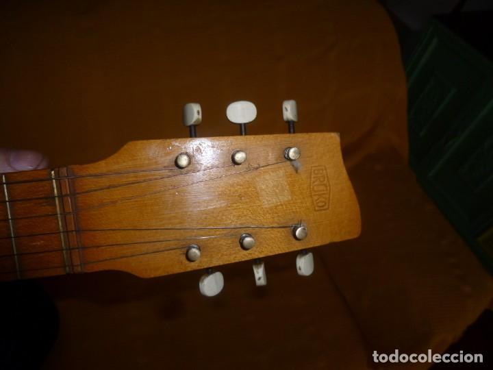 Instrumentos musicales: Antigua guitarra octava Bruko - Foto 6 - 161809758