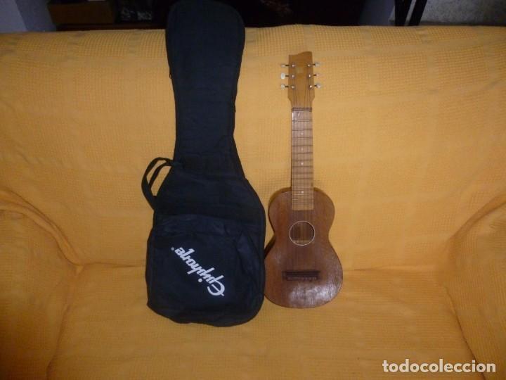 Instrumentos musicales: Antigua guitarra octava Bruko - Foto 7 - 161809758