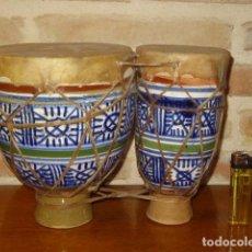 Instrumentos musicales: TIMBALES ARABES DE CERAMICA.. Lote 162467118
