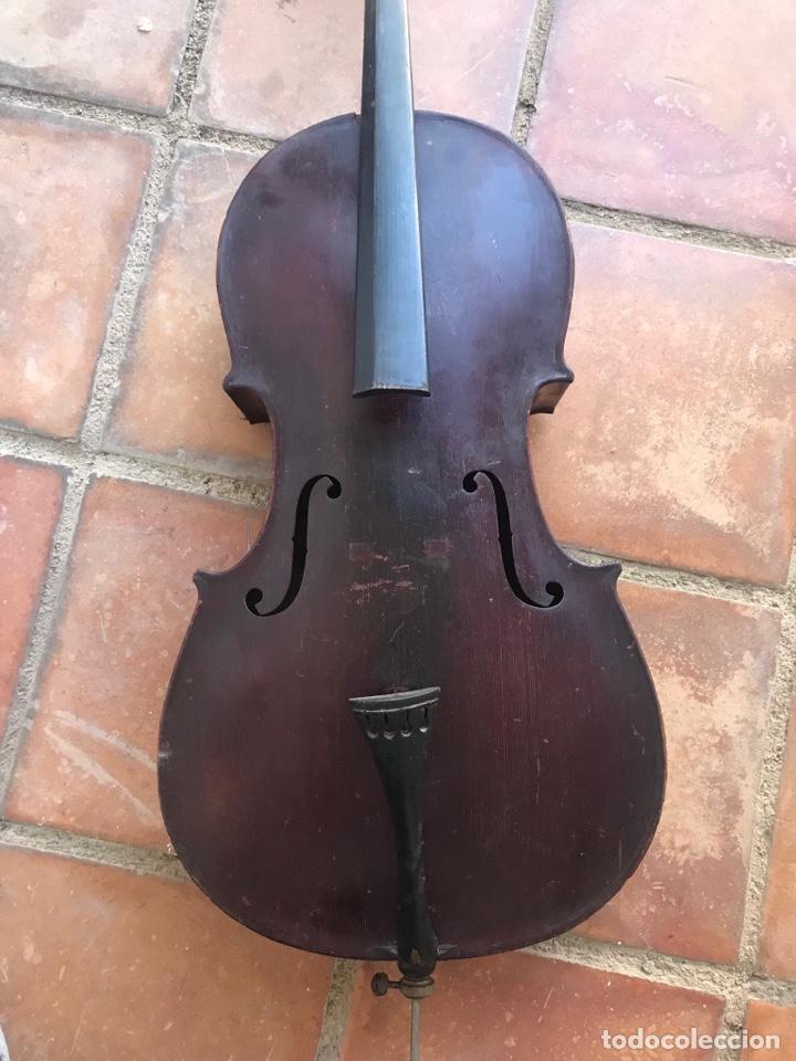 Instrumentos musicales: ELEGANTE VIOLONCHELO FINALES DEL S.XIX. VER FOTOS ANEXAS. - Foto 2 - 180107325