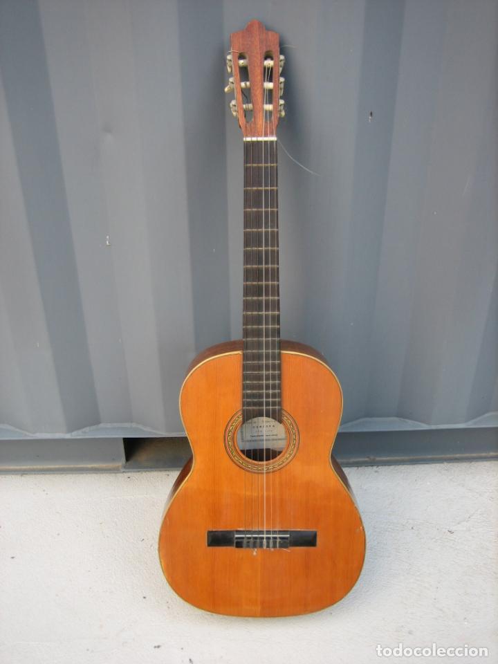 ANTIGUA GUITARRA ESPAÑOLA. CONSTRUCTOR JUAN MONTERO. CÓRDOBA 1976 (Música - Instrumentos Musicales - Guitarras Antiguas)
