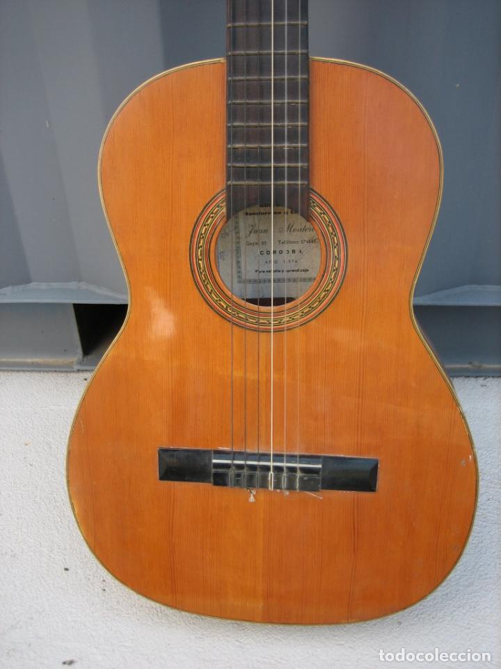 Instrumentos musicales: Antigua guitarra española. Constructor Juan Montero. Córdoba 1976 - Foto 7 - 162636242