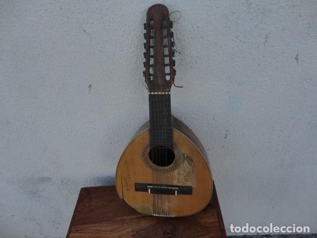 BANDURRIA CASA GONZALEZ, CALLE CARRETAS, 25 MADRID, DESDE 1868, CON SU FUNDA - PARA RESTAURAR- (Música - Instrumentos Musicales - Cuerda Antiguos)