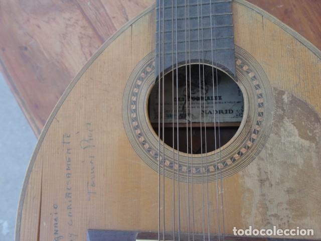 Instrumentos musicales: Bandurria Casa Gonzalez, calle carretas, 25 Madrid, desde 1868, con su funda - Para Restaurar- - Foto 15 - 163967438