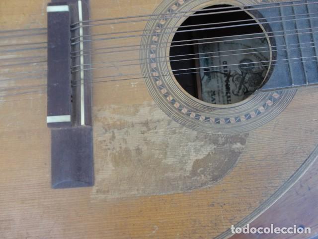 Instrumentos musicales: Bandurria Casa Gonzalez, calle carretas, 25 Madrid, desde 1868, con su funda - Para Restaurar- - Foto 18 - 163967438