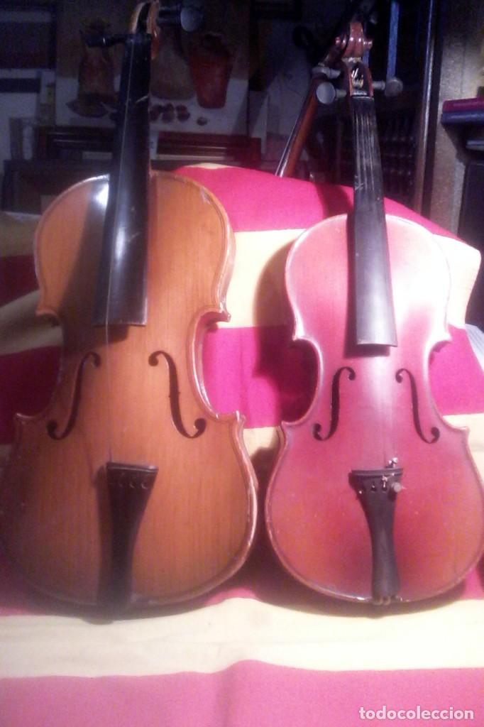 2 VIOLINES . (Música - Instrumentos Musicales - Cuerda Antiguos)