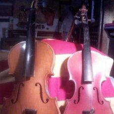 Instrumentos musicales: 2 VIOLINES .. Lote 165218538