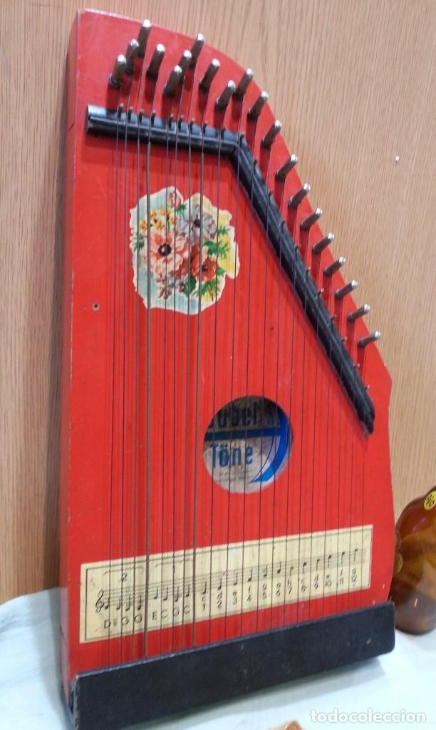 Instrumentos musicales: Cítara muy vieja. Instrumento musical centro-europeo. Marca jubel. - Foto 3 - 166417546