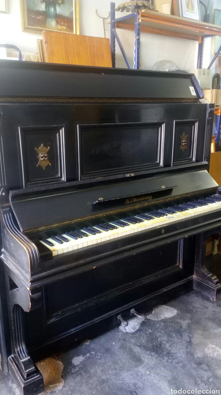 ANTIGUO PIANO DE PARED MODERNISTA SIGLO XIX / R.MARISTANY MODERNIST RECOGIDA A CARGO DEL COMPRADOR (Música - Instrumentos Musicales - Pianos Antiguos)