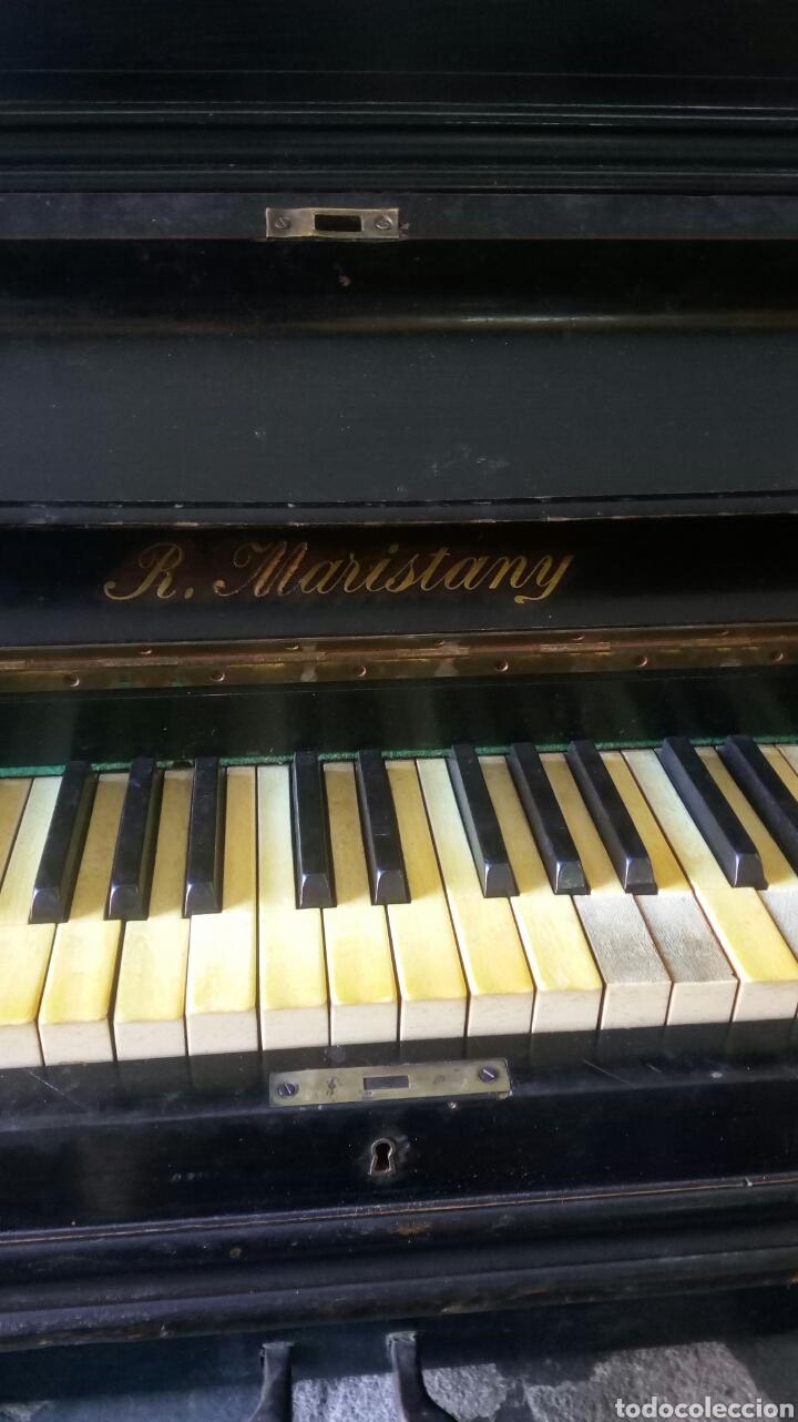 Instrumentos musicales: Antiguo Piano de Pared Modernista Siglo XIX / R.Maristany Modernist Recogida a cargo del Comprador - Foto 2 - 166921896