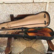 Instrumentos musicales: ANTIGUO VIOLÍN , EN USO , NECESITA PONER CUERDAS Y CEDRA. Lote 167460840