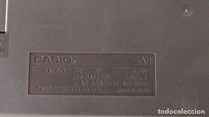 Instrumentos musicales: CASIO SA-1 TONE BANK KEYBOARD 100 SOUND TECLADO ELECTRONICO CON CAJA ORIGINAL Y FUNCIONANDO - Foto 9 - 167877800
