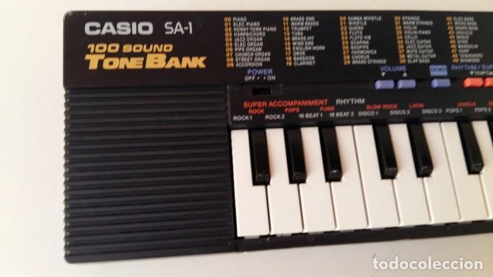 Instrumentos musicales: CASIO SA-1 TONE BANK KEYBOARD 100 SOUND TECLADO ELECTRONICO CON CAJA ORIGINAL Y FUNCIONANDO - Foto 21 - 167877800