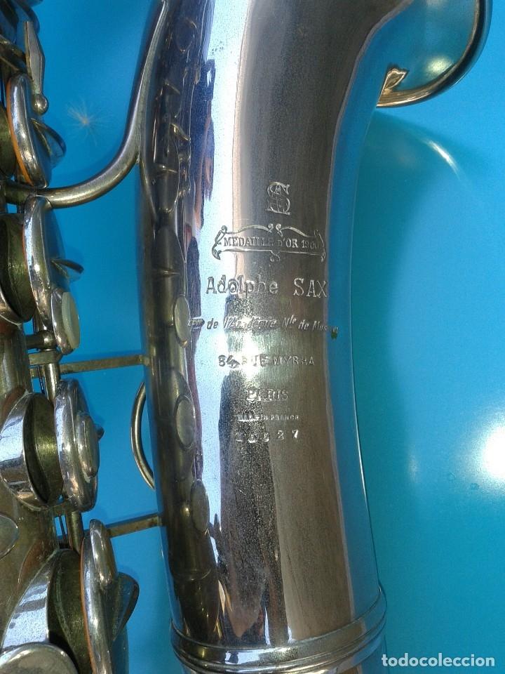 ADOLPHE SAX. SAXOFÓN ORIGINAL 1900 FECHADO Y GRABADO. AFINADO POR LUTIER. BOQUILLA YAMAHA. (Música - Instrumentos Musicales - Viento Metal)