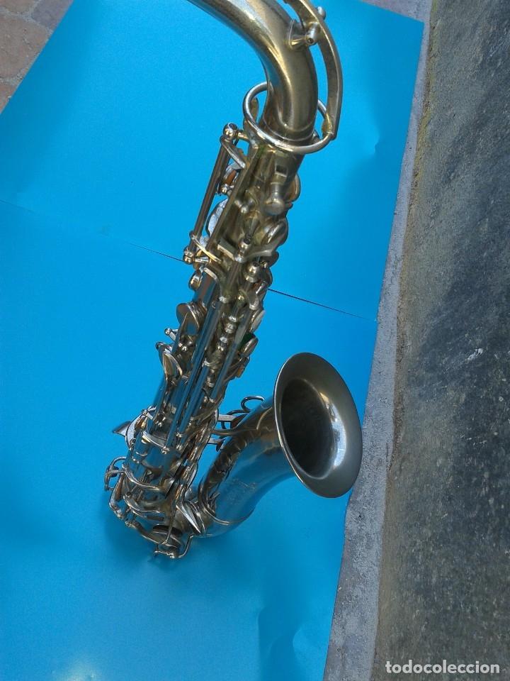 Instrumentos musicales: Adolphe Sax. SAXOFÓN ORIGINAL 1900 FECHADO Y GRABADO. AFINADO POR LUTIER. BOQUILLA YAMAHA. - Foto 2 - 168584608