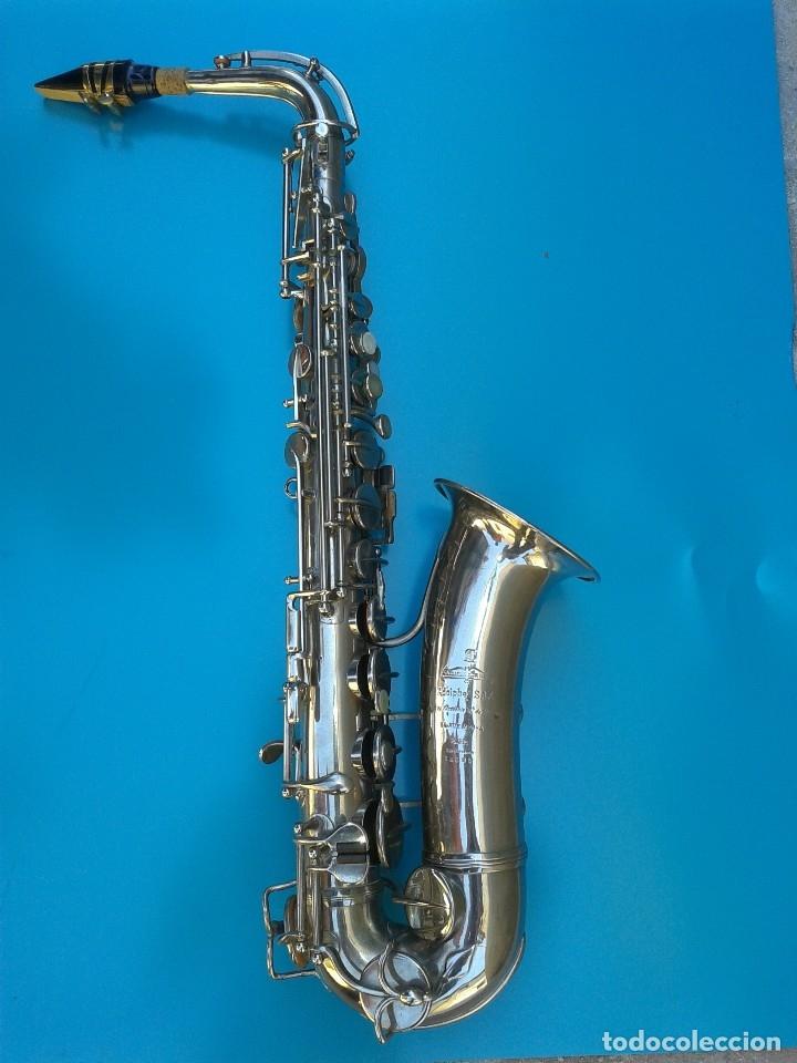 Instrumentos musicales: Adolphe Sax. SAXOFÓN ORIGINAL 1900 FECHADO Y GRABADO. AFINADO POR LUTIER. BOQUILLA YAMAHA. - Foto 3 - 168584608