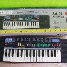 Instrumentos musicales: PIANO TECLADO ELECTRÓNICO CASIO SA-21 TONE BANK KEYBOARD.. Lote 176957037