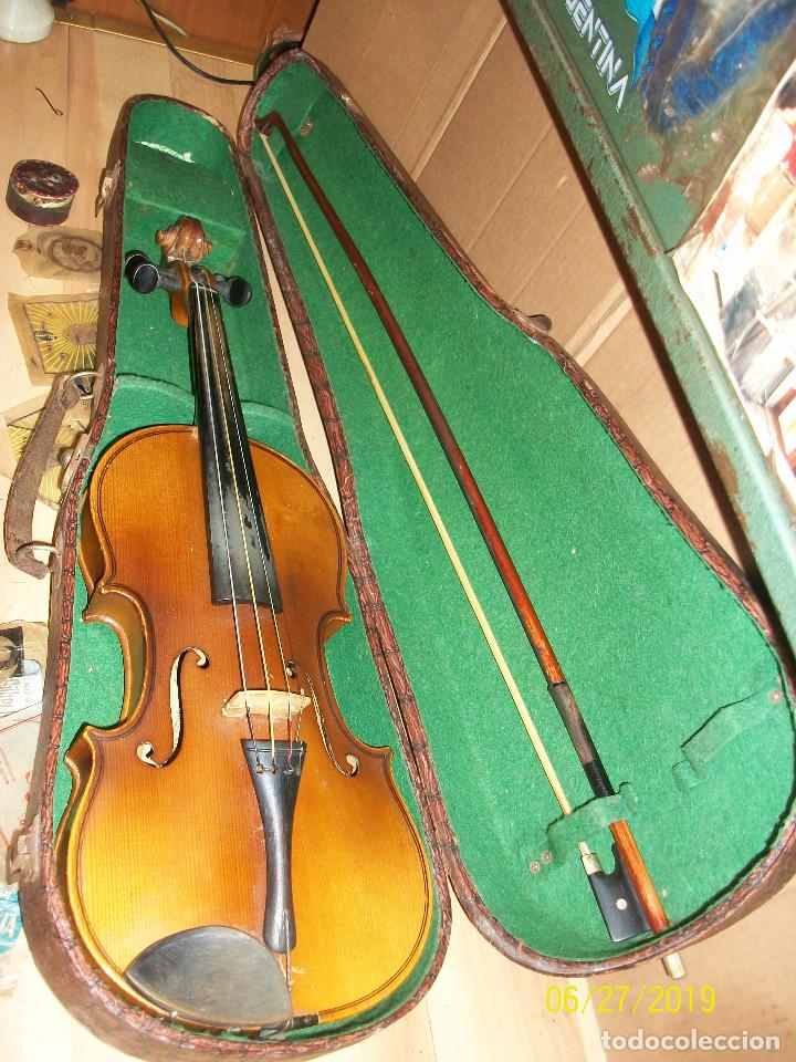 ANTIGUO VIOLIN ANTONIUS STRADIVARIUS-COPIA-MADE IN CHEKOSLOVAKIA (Música - Instrumentos Musicales - Cuerda Antiguos)