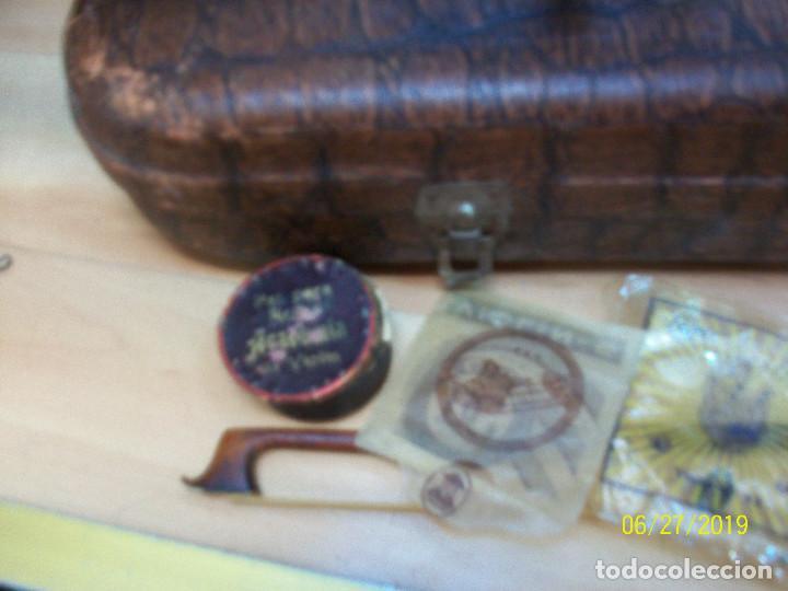 Instrumentos musicales: ANTIGUO VIOLIN ANTONIUS STRADIVARIUS-COPIA-MADE IN CHEKOSLOVAKIA - Foto 5 - 247296285