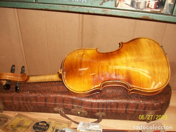 Instrumentos musicales: ANTIGUO VIOLIN ANTONIUS STRADIVARIUS-COPIA-MADE IN CHEKOSLOVAKIA - Foto 9 - 247296285