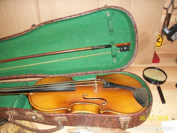 Instrumentos musicales: ANTIGUO VIOLIN ANTONIUS STRADIVARIUS-COPIA-MADE IN CHEKOSLOVAKIA - Foto 12 - 247296285