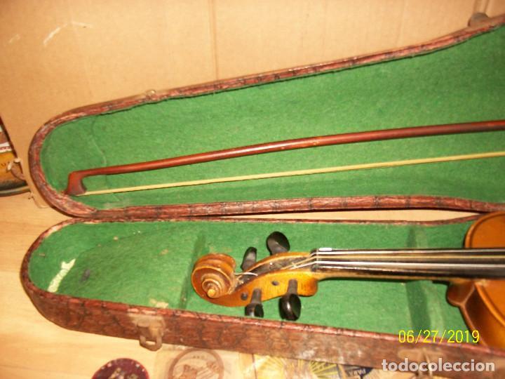 Instrumentos musicales: ANTIGUO VIOLIN ANTONIUS STRADIVARIUS-COPIA-MADE IN CHEKOSLOVAKIA - Foto 13 - 247296285
