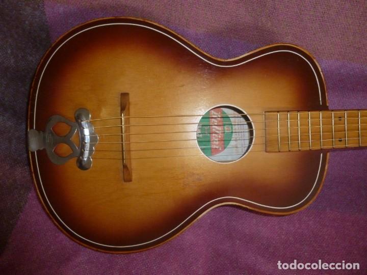 """GUITARRA DE SUDÁFRICA """"ZULÚ"""" BELLINI DE LOS 50 (Música - Instrumentos Musicales - Guitarras Antiguas)"""