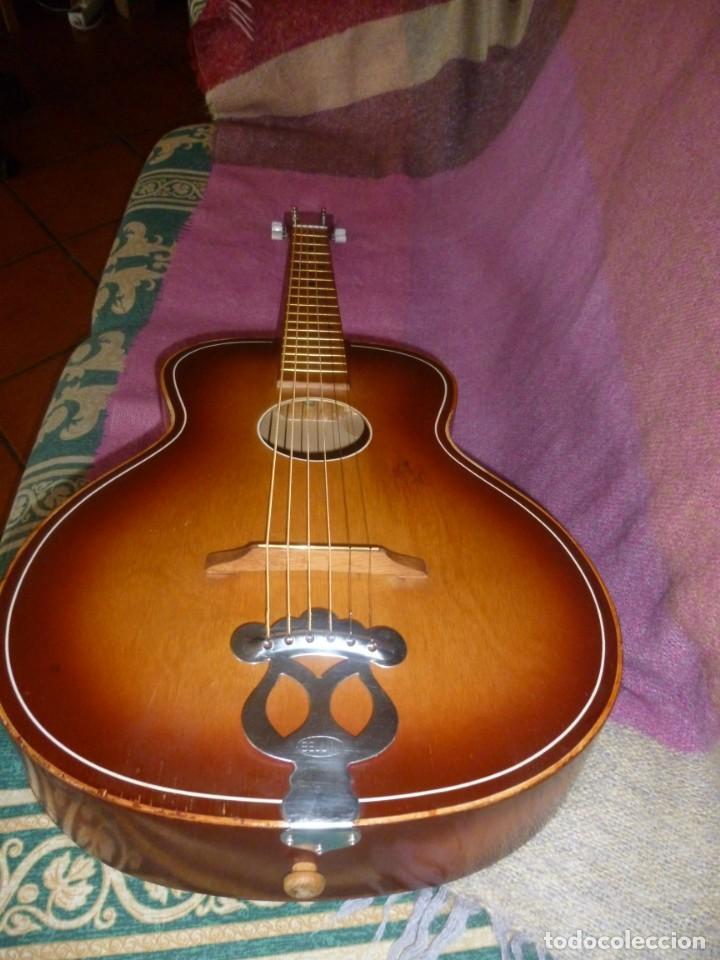 """Instrumentos musicales: Guitarra de sudáfrica """"zulú"""" Bellini de los 50 - Foto 2 - 169904052"""