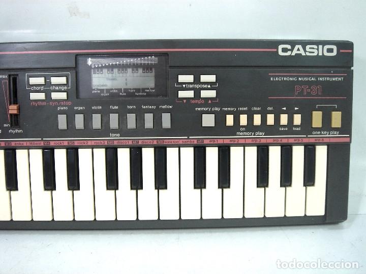 Instrumentos musicales: DIFICIL TECLADO ELECTRONICO - CASIO PT-31 ¡¡FUNCIONANDO¡¡ - JAPAN 80S -PT31 - PIANO ORGANO - Foto 2 - 170562100