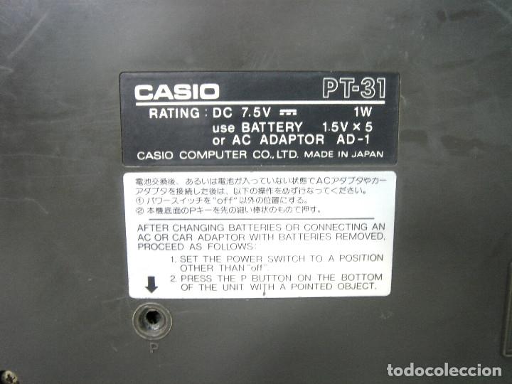 Instrumentos musicales: DIFICIL TECLADO ELECTRONICO - CASIO PT-31 ¡¡FUNCIONANDO¡¡ - JAPAN 80S -PT31 - PIANO ORGANO - Foto 8 - 170562100