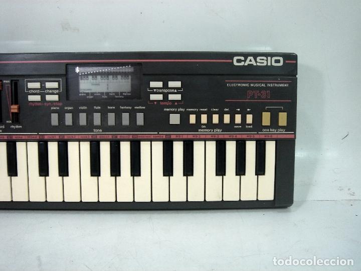 DIFICIL TECLADO ELECTRONICO - CASIO PT-31 ¡¡FUNCIONANDO¡¡ - JAPAN 80S -PT31 - PIANO ORGANO (Música - Instrumentos Musicales - Teclados Eléctricos y Digitales)