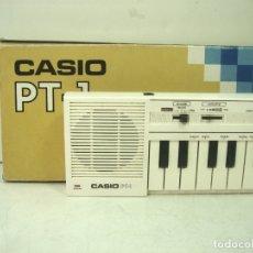 Instrumentos musicales: TECLADO CASIO PT-1 + CAJA ¡¡FUNCIONANDO¡¡ -JAPAN AÑOS 80 - ORGANO PIANO PT1-. Lote 179213867