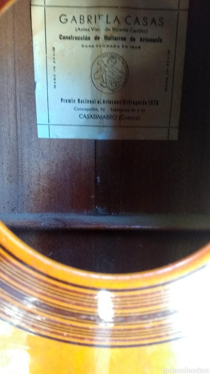 Instrumentos musicales: Leer antes de comprar/Gabriela casas viuda de Vicente Carrillo guitarra - Foto 3 - 170934092