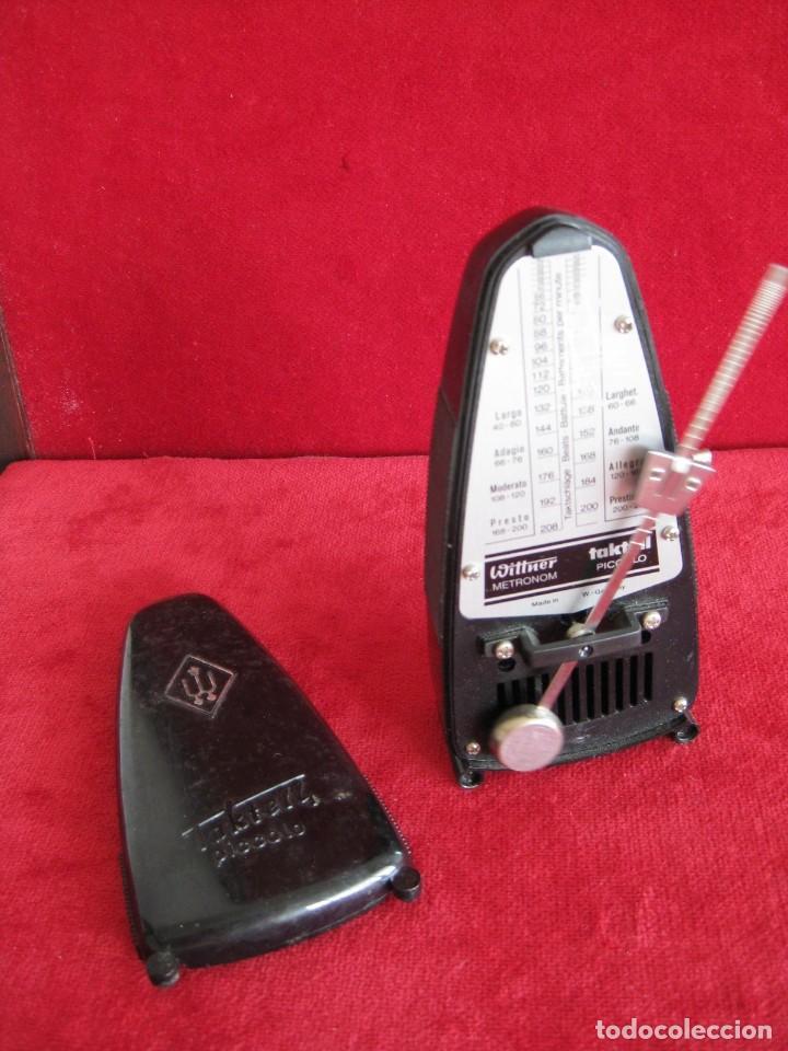 Instrumentos musicales: METRONOMO TAKTELL PICCOLO DE CUERDA EN BAQUELITA, MADE IN GERMANI, FUNCIONANDO - Foto 2 - 171025133