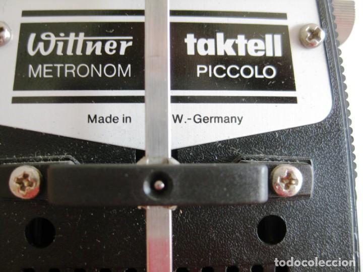 Instrumentos musicales: METRONOMO TAKTELL PICCOLO DE CUERDA EN BAQUELITA, MADE IN GERMANI, FUNCIONANDO - Foto 5 - 171025133