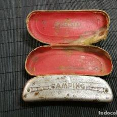 Instrumentos musicales: MUY ANTIGUA ARMONICA A. HOHNER. CAMPING. CON SU FUNDA. Lote 171040832