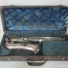 Instrumentos musicales: SAXO JULIUS KELWERTH - TONEKING, GRASLITZ C.S.R - CON BOQUILLAS, CAÑAS, ETC - ESTUCHE ORIGINAL. Lote 171114467