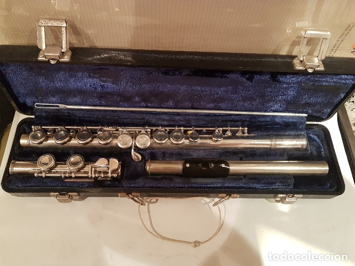 ANTIGUA FLAUTA TRAVESERA W.T ARMSTRONG ELKHART-INO-IQ4 34 13972 MUY BUEN ESTADO VER FOTOS (Música - Instrumentos Musicales - Viento Metal)
